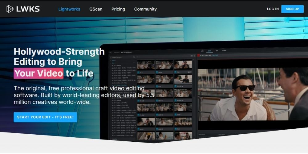 Lightworks - Best Free Video Editing Software
