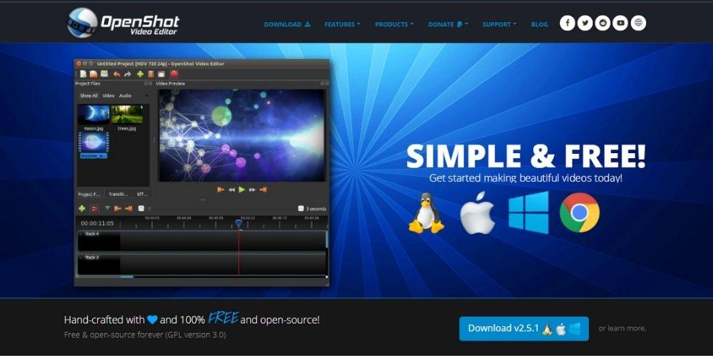 OpenShot - Best Free Video Editing Software